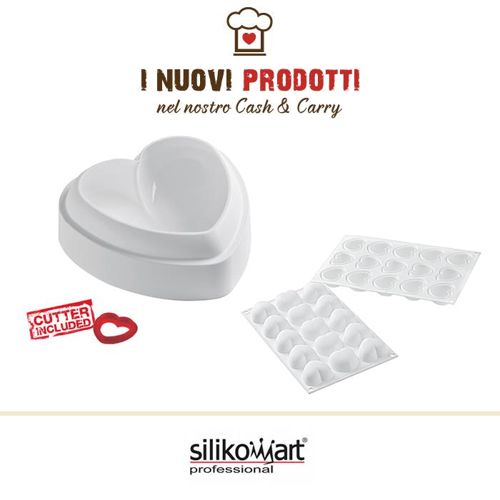 Stampi in silicone a forma di cuore SilikoMart