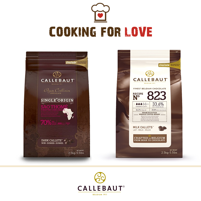 Unione di mandorle e cioccolato Callebaut