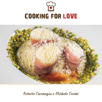 Coda di rospo al prosciutto con peperoni fritti, pistacchi e aria all'olio