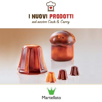 Stampi in acciaio per panettoni e pandorini in cioccolato - Martellato